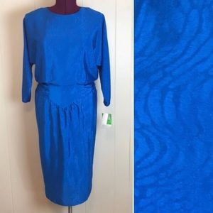 Vintage 80s/90s Dead Stock Batwing Sleeve Dress